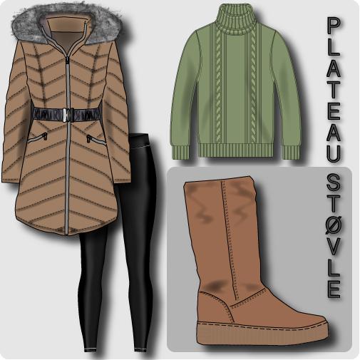 Plateau støvle collage