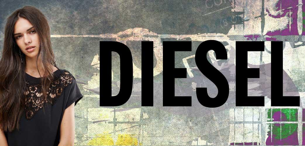 Diesel logo og pige
