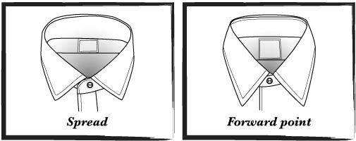 Vektortegning af skjortekraver