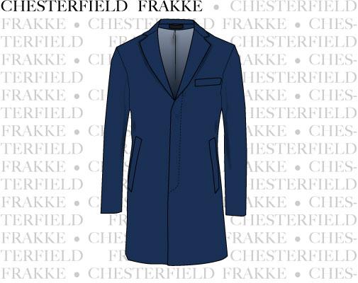Vectortegning af chesterfield frakken