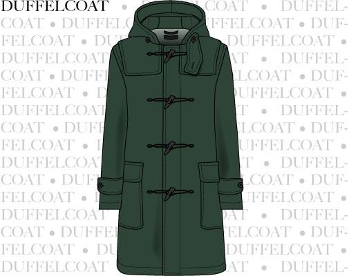 Vektortegning af duffelcoat