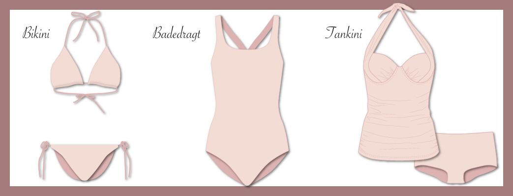 Forskellige typer badetøj
