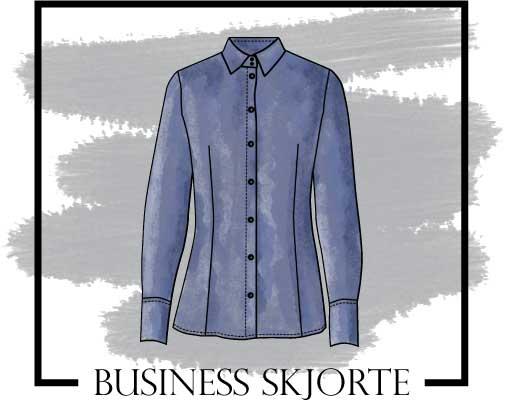 Tegning af business skjorte