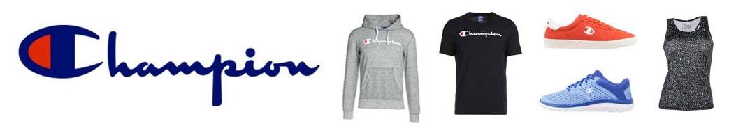 Champion logo, tøj og sko