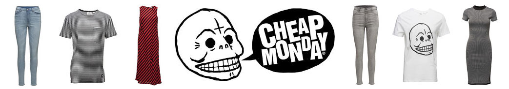 Cheap Monday logo og produkter
