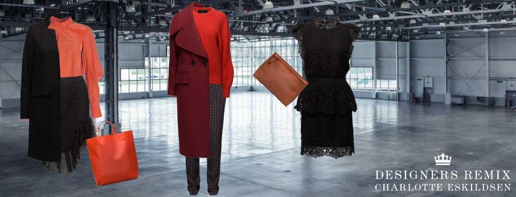 Tre forskellige sæt Designers Remix tøj