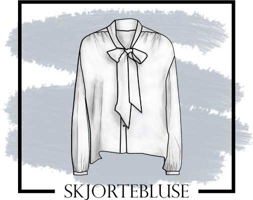 Tegning af skjortebluse