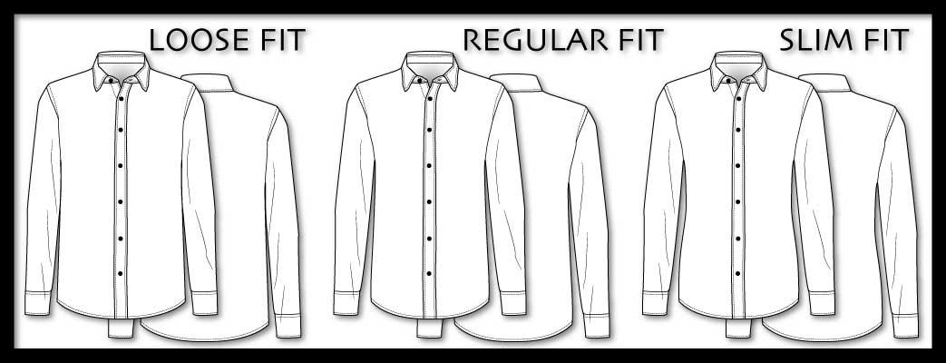 Forskellige skjortetyper