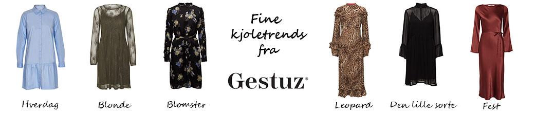 Forskellige Gestuz kjoler og Gestuz logo