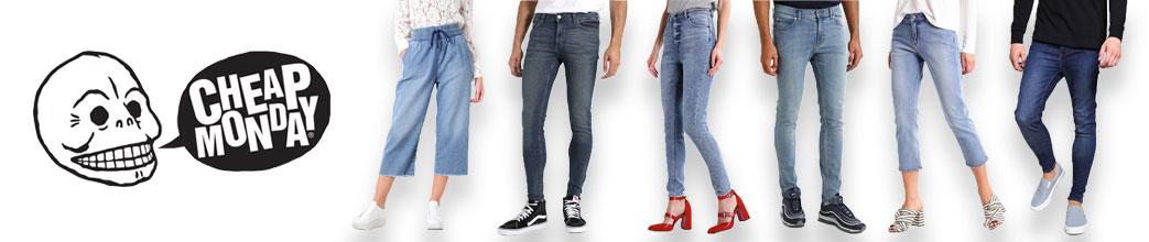 Cheap Monday jeans og mænd og kvinder i forskellige jeans
