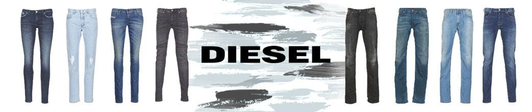 Jeans til mænd og kvinder samt Diesel logo