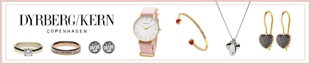 Dyrber/Kern smykker og lyserød ramme