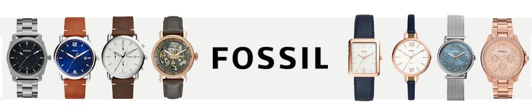 Fossil logo samt ure til mænd og kvinder