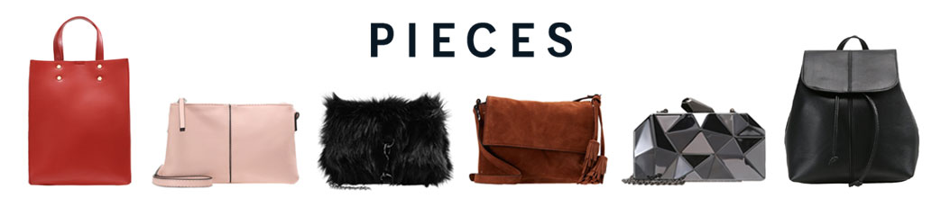 Forskellige tasker og Pieces logo