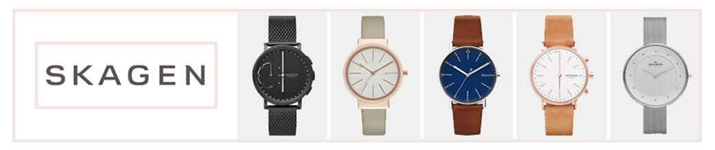 Skagen ure i forskellige modeller