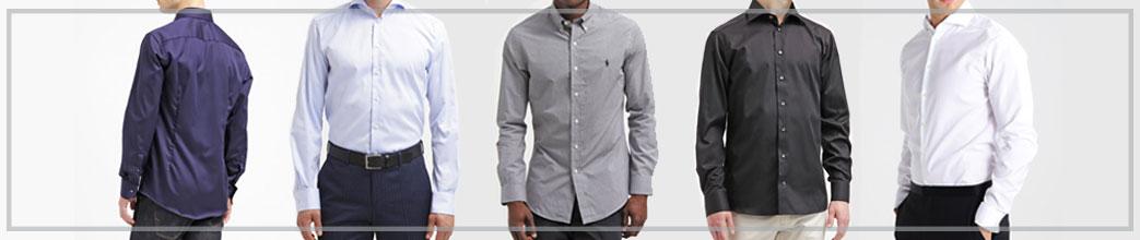 Mænd i forskellige slimfit skjorter