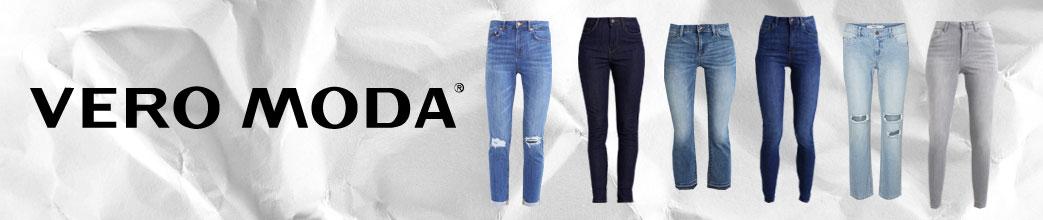 Vero Moda logo og jeans i forskellige styles
