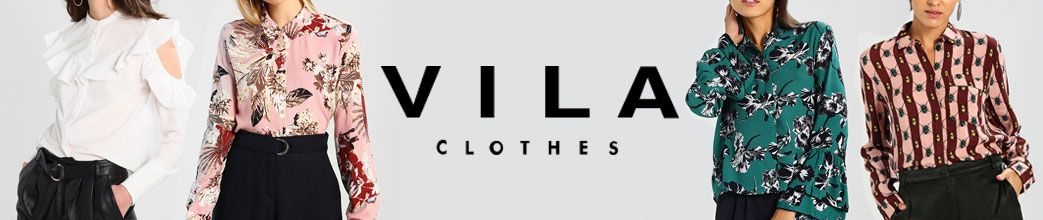 Kvinder i Vila skjorter og logo i midten