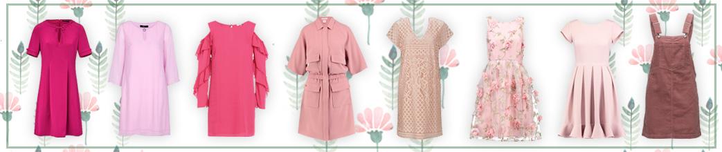 Lyserøde kjoler i lyse og pink nuancer