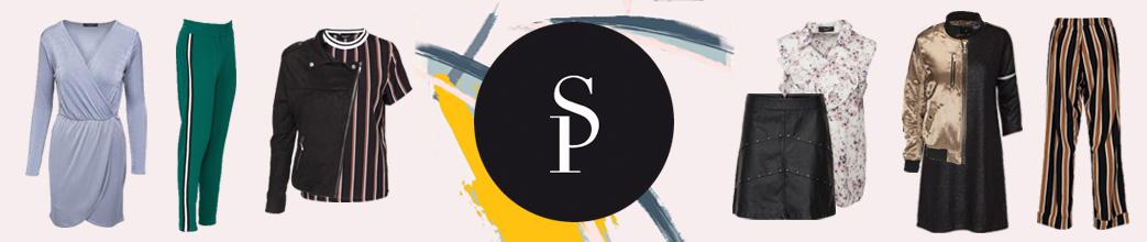 Sisters Point logo og outfits med SP tøj