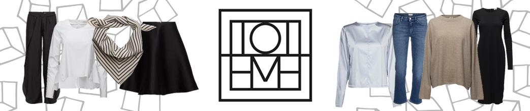 Tøj til kvinder fra Totême og logo i midten