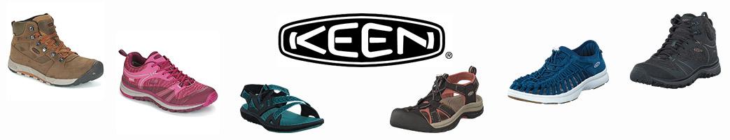 Keen støvler, sneakers og sandaler samt logo