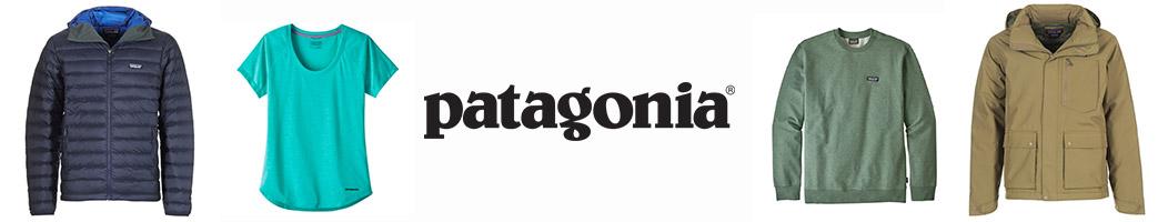 Patagonia logo og jakker, T-shirt og sweatshirt