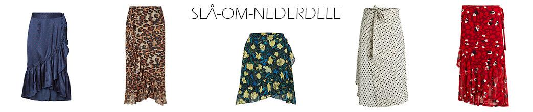Slå-om-nederdele i forskellige længder og farver