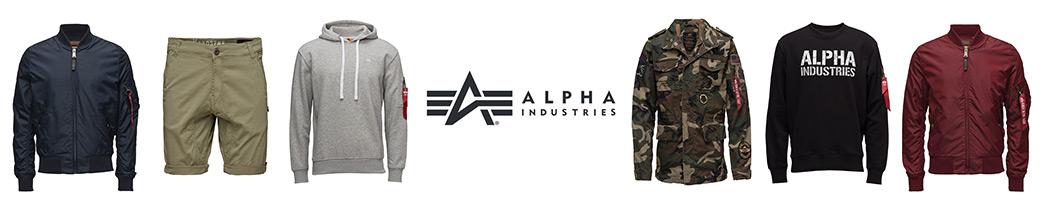 Bomberjakker, shorts og trøjer fra Alpha Industries