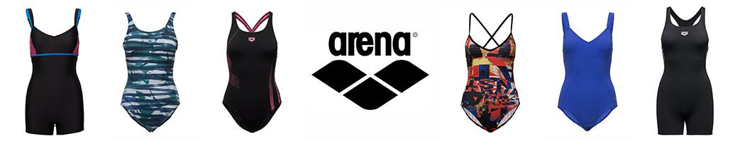 Arena badedragter i forskellige farver og designs