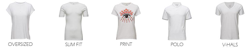Hvide T-shirts til mænd og kvinder